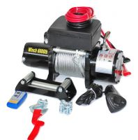 Електрическа лебедка за малки джипове GY6000 2721кг / 6000 LB - 12V - стоманено въже 24 метра - безжично дистанционно - джойстик - 4x4 - Off-road -  Гаранция