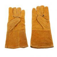 Чифт TIG MIG заваръчни топлоустойчиви работни ръкавици от телешка кожа