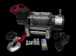 Електрическа лебедка 17500Lbs - 12 V - 17500 Lbs / 7938 кг. - 4.5 kw - 6 к.с. - стоманено въже 26 метра / 9.5 мм - 4x4 - Off-road -  Гаранция | Rudimpex