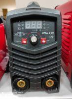 Инверторен електрожен MMA200 - IGBT - ARC - VRD - 6.2kVA -  220V - 200 реални ампери - горещ старт - цифров LED дисплей - автоматична соларнa маска - ръкавици - обикновена маска - ръкохватка  -  кабели - електроди до 4 мм - високо качество - 1 година гар