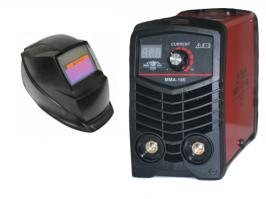 Портативен / Mini Инверторен електрожен MMA 160 - IGBT - ARC - ММА - 160А реални ампера - 5.6 kVA - с цифров LED дисплей и соларна маска - електроди до 3.2 мм - високо качество - 1 година гаранция | Rudimpex.com