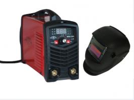 Инверторен електрожен MMA200 - IGBT - ARC - VRD - 6.2kVA -  220V - 200 реални ампери - горещ старт - цифров LED дисплей - автоматична соларнa маска - обикновена маска - ръкохватка  -  кабели - електроди до 4 мм - високо качество - 1 година гар