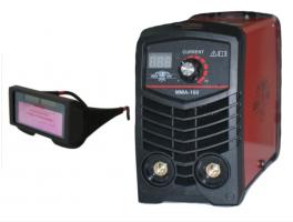 Портативен / Mini Инверторен електрожен MMA160 - IGBT - ARC - ММА - 160А реални ампера - 5.6 kVA - с цифров LED дисплей и соларни очила - електроди до 3.2 мм - високо качество - 1 година гаранция   Rudimpex.com