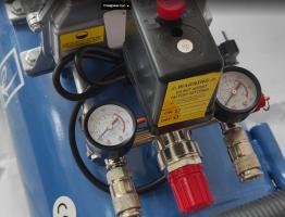 Kомпресор за въздух Greenyard Tools - GY-AC50 Blue - два манометъра - резервоар  50 литра, 8 бара, 178 л/мин - ПРОФЕСИОНАЛЕН - Rudimpex.com -