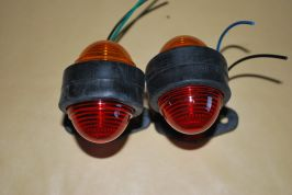 2 x 24V rear side clearance lights signaling for trucks orange / red