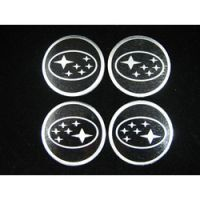 4 x 60mm SUBARU Sticker Emblem Logo Rimsticker black